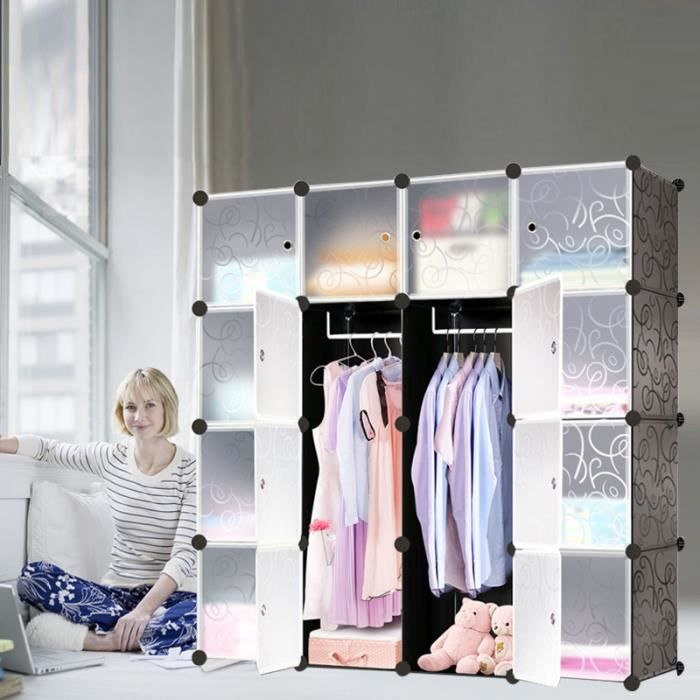ARMOIRE DE CHAMBRE MCTECH 16 Combination storage clothes Cubes / Étag