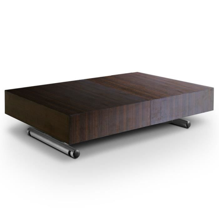 table basse relevable cassidy bois wenge achat vente table basse table basse cassidy bois. Black Bedroom Furniture Sets. Home Design Ideas