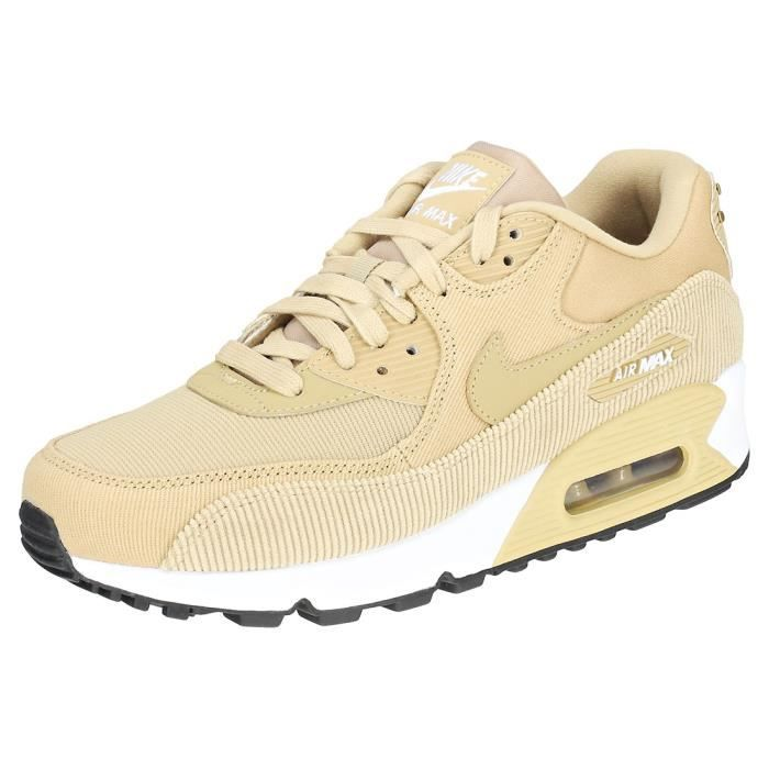 plus récent f4200 a2a91 Nike Air Max 90 Femme Baskets Beige