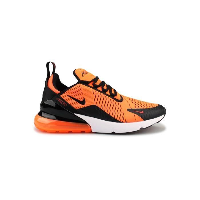 chaussures air max 270 orange noir