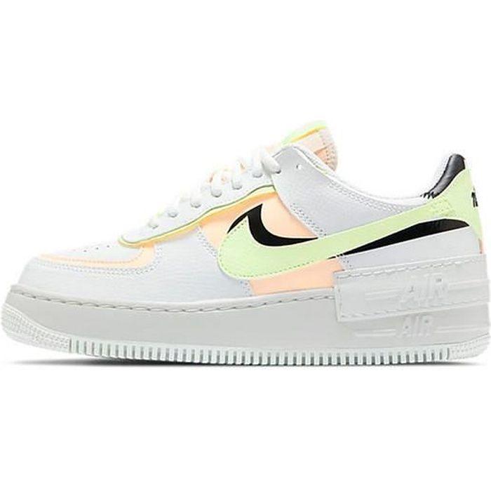 Nike Air Force 1 Shadow Baskets Basses pour Femme Blanc Orange ...