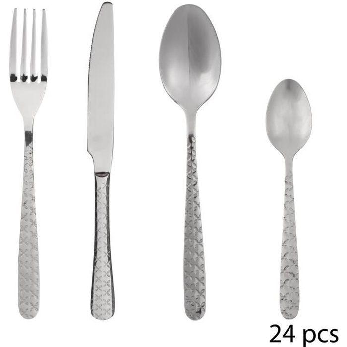 vaisselle design élégant 16 24 32 48 pieces Set de couverts en acier inoxydable