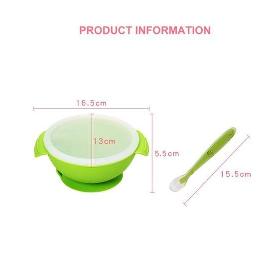 Bol Alimentation Akuku baby feeding sucion Bol avec cuillère couvercle no bisfenol a a0255
