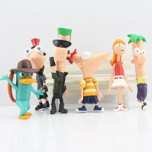 FIGURINE - PERSONNAGE 50 Pack-Lot  set = 6 pcs phineas et ferb Perry l'o