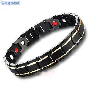 BRACELET - GOURMETTE Bracelet Bijoux Homme - Bracelet magnétique mâle e