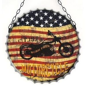 D coration murale capsule de bouteille g ante 50cm biker for Decoration murale usa