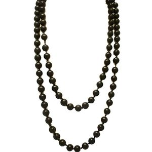 SAUTOIR ET COLLIER Collier Perle des atols II noir