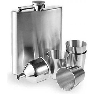 FLASQUE Flasque Inox avec Accessoires (7 pièces)