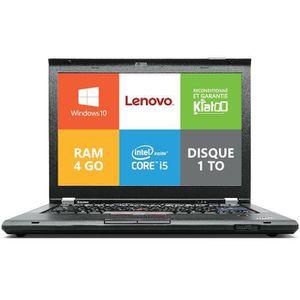 Vente PC Portable Ordinateur portable Lenovo ThinkPad T420 Core I5  4go ram 1TO disque dur,windows10, pc portable reconditionné pas cher