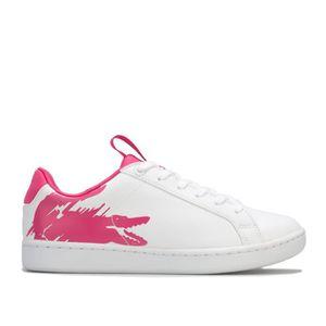 BASKET Lacoste Baskets Carnaby Evo Blanc Rose Fille