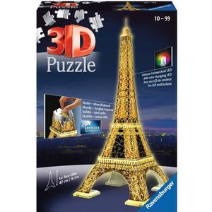 PUZZLE RAVENSBURGER Puzzle 3D Tour Eiffel Night Edition 2