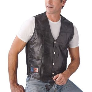 gilet cuir biker homme achat vente pas cher. Black Bedroom Furniture Sets. Home Design Ideas