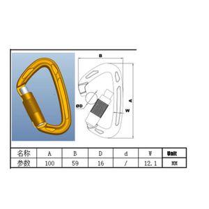 6 pièces 12KN Aluminium Wire Gate Mousqueton pour hamac Camping Randonnée