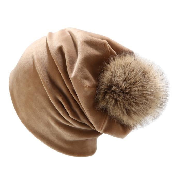 Femmes hiver en duvet d'oie casquette de couleur unie casquette décontractée cache-oreilles LTA90812081KH_Leshaishu