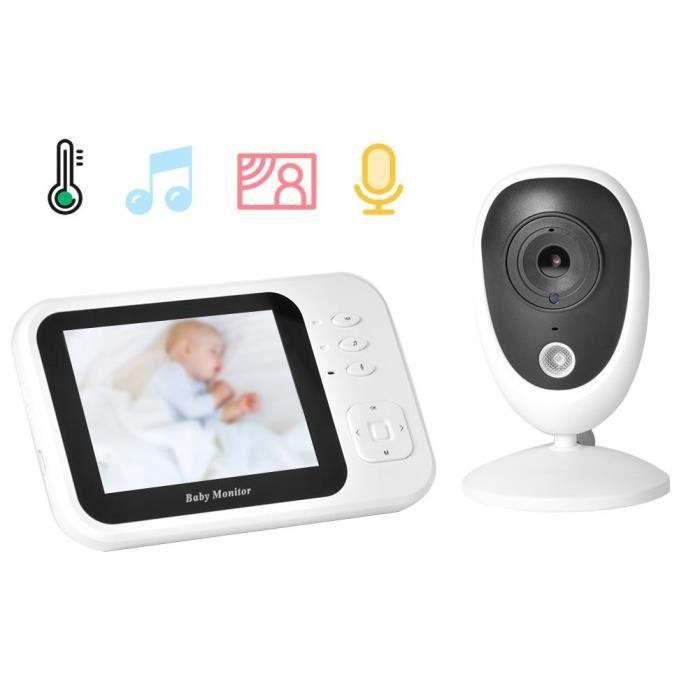 WIPES Baby phone TFT sans fil numérique bébé moniteur IR vision nocturne interphone berceuses température 100-240V 3.5in