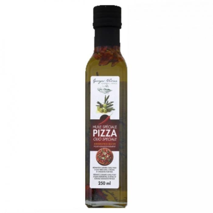 Huile pimentée spéciale pizza - Georges Nivier - bouteille 250ml