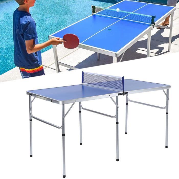 LIZ♘Accessoire d'intérieur durable de ping-pong réglé avec la table pliable nette de tennis de table