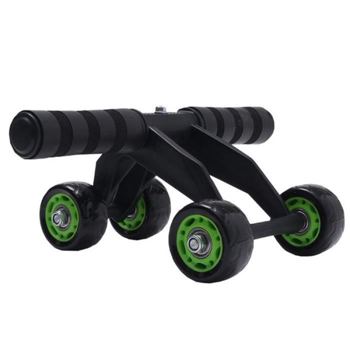 Roulement de roue abdominale à quatre roues rouleau silencieux exercice de roue abdominale entraîneur de muscles abdominaux