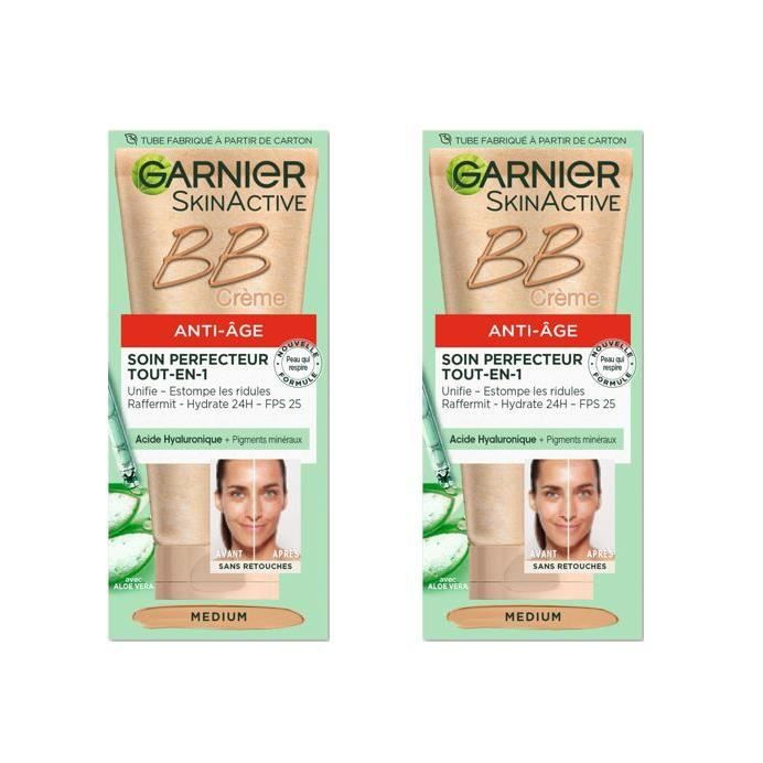GARNIER BB Crème Perfecteur Medium 50 ml (Lot de 2)