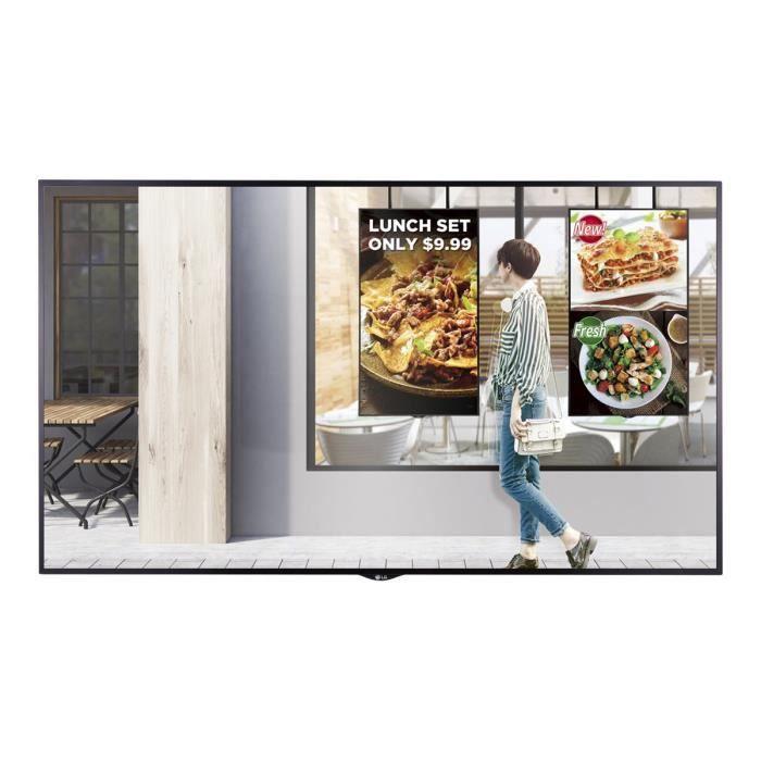 LG 55XS2E-B Classe 55- XS2E Series écran DEL signalisation numérique webOS 1080p (Full HD) 1920 x 1080 noir