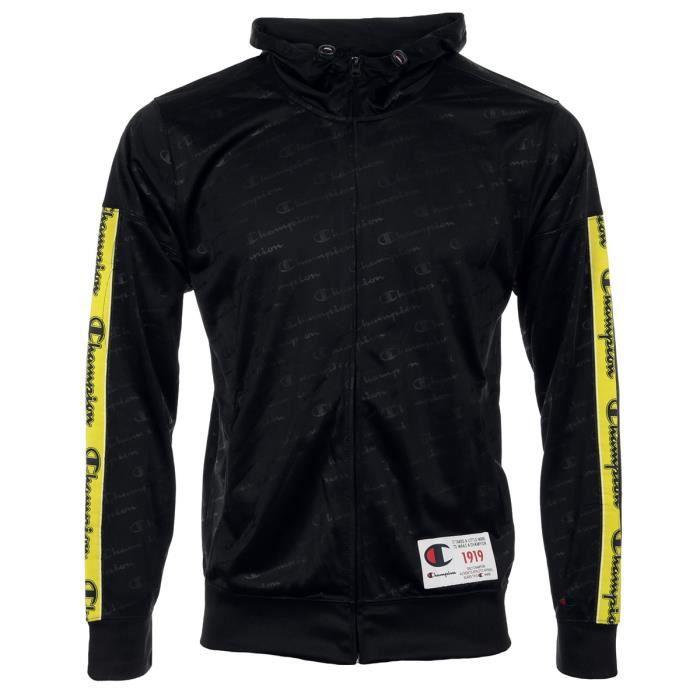 Veste Champion Hooded Full Zip Suit -Black-