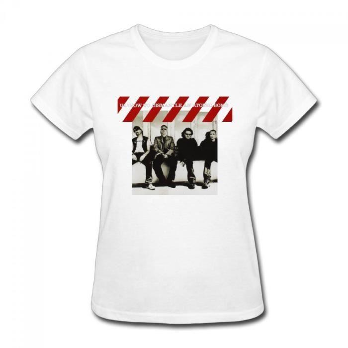 U2 How To Dismantle An Atomic Bomb Femme Col rond Coton Manche courte T-shirt