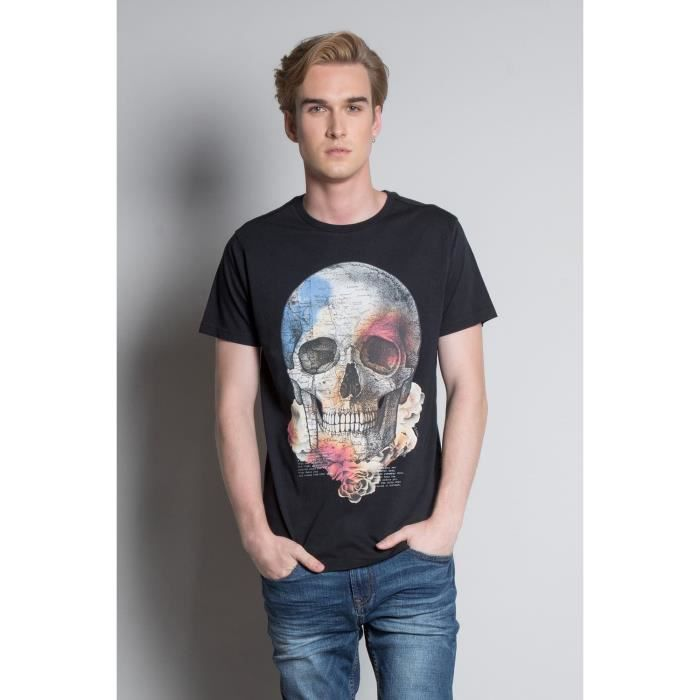 DEELUXE T-shirt avec tête de mort JACKY Black