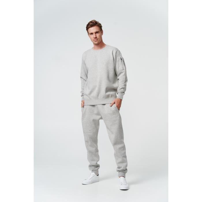 Pour Homme Ensemble de base jogging le sport militaire Pantalon et pull Camo Sweat Tracksuit sans capuche