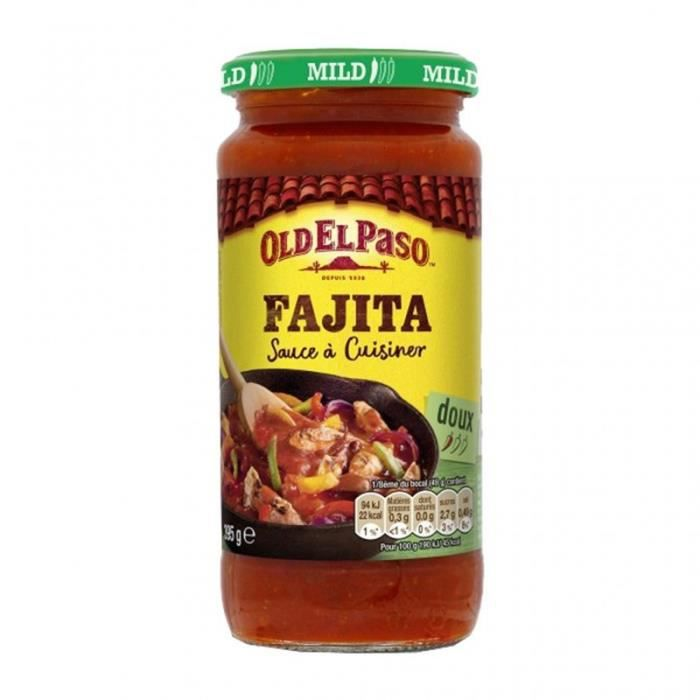 Old El Paso Fajita Sauce à Cuisiner Doux 395g (lot de 4)