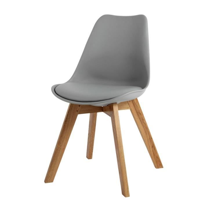 Chaise design scandinave grise Norway