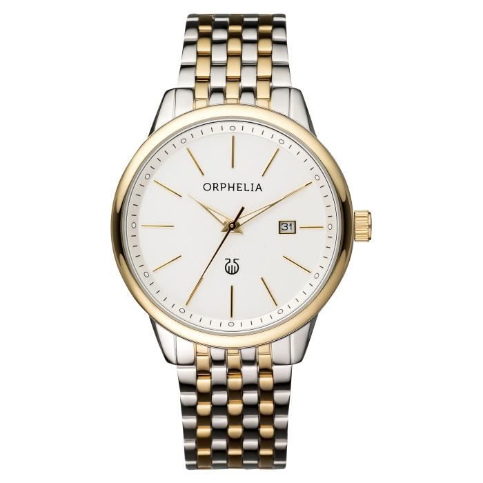 ORPHELIA - Montre Homme - Quartz Analogique - Bracelet Acier inoxydable Bicolore - OR62504