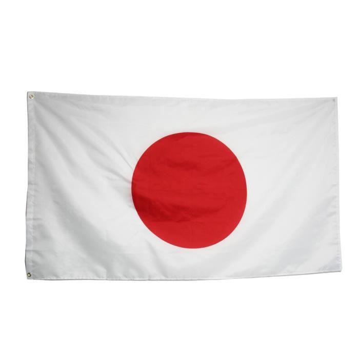 Grand Drapeau National Japonais avec Anneaux 90 x 150 cm Bannière Suspendue pour la Coupe du Monde Événements Sportifs TRIXES