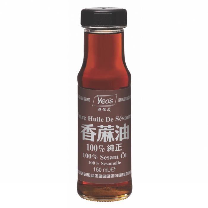 Pure huile de sésame 100% 150ML - Marque Yeo's - 2 bouteilles