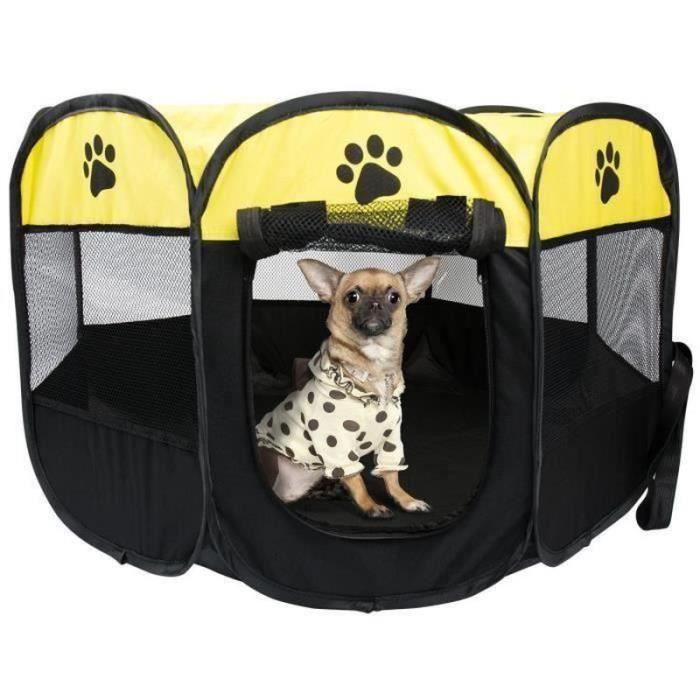SJ31151-REMYCOO Parc à Chiots Chiens, Cage de Chien Octogonal Petits Animaux ,enclos pour animaux Pliable