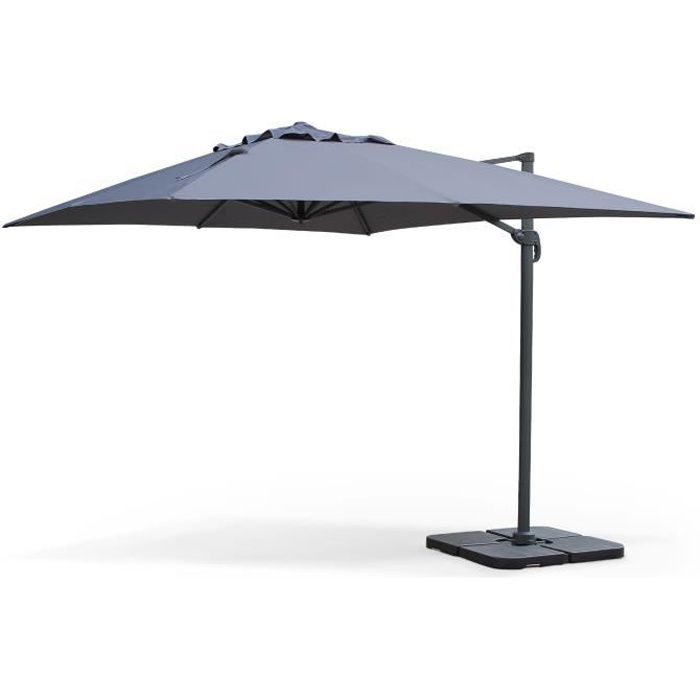 st jean de luz parasol d port 3x4m gris achat vente parasol parasol 3x4m st jean de luz. Black Bedroom Furniture Sets. Home Design Ideas