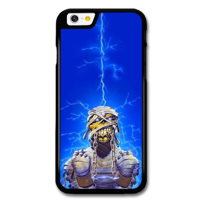 Iron Maiden Blue Background Thunder Mummy coque pour iPhone 6 ...