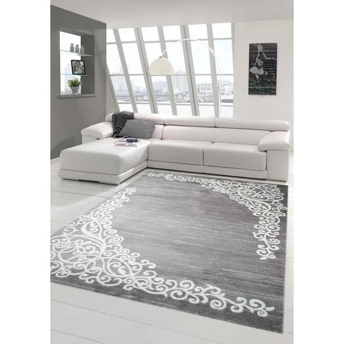 Tapis de salon contemporain, design oriental - New Florida - Gris ...