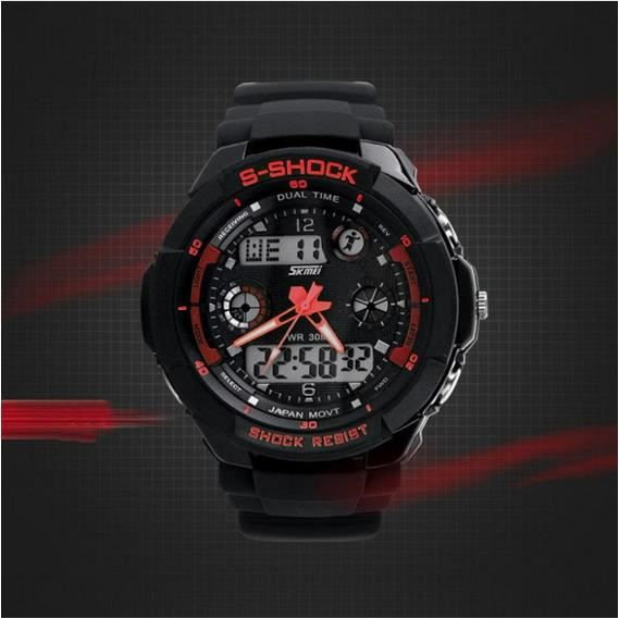 montre sport homme rouge digitale led chrono rouge sport achat vente montre cdiscount. Black Bedroom Furniture Sets. Home Design Ideas