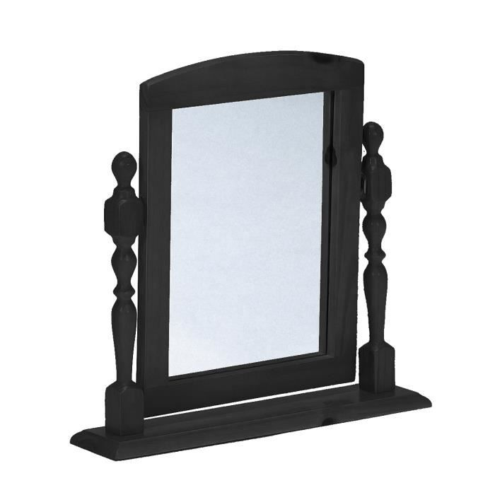 miroir en pin massif pour coiffeuse gris anthracite achat vente miroir cdiscount. Black Bedroom Furniture Sets. Home Design Ideas