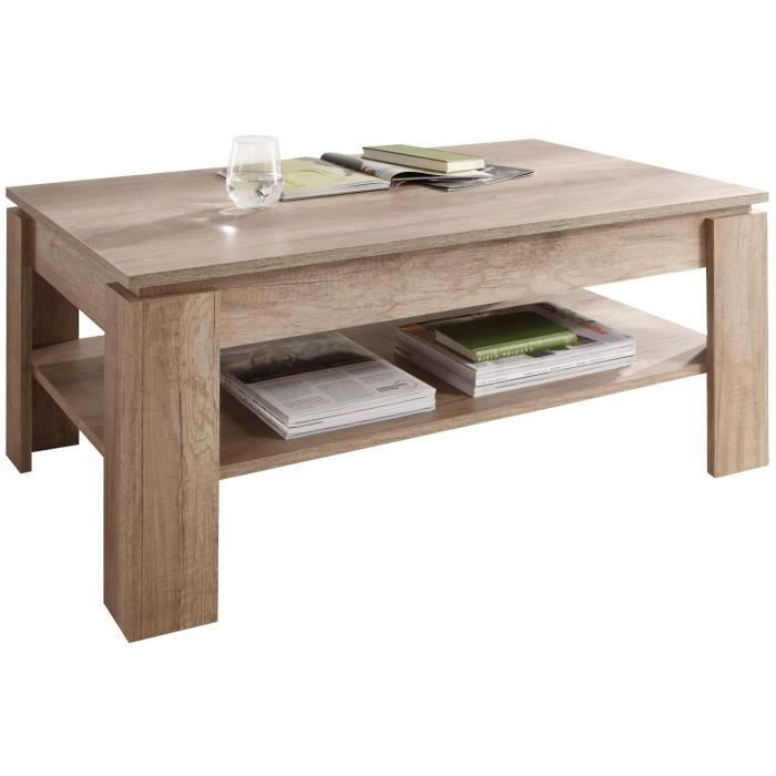 Table basse design coloris ch ne achat vente table basse table basse desi - Table basse design discount ...