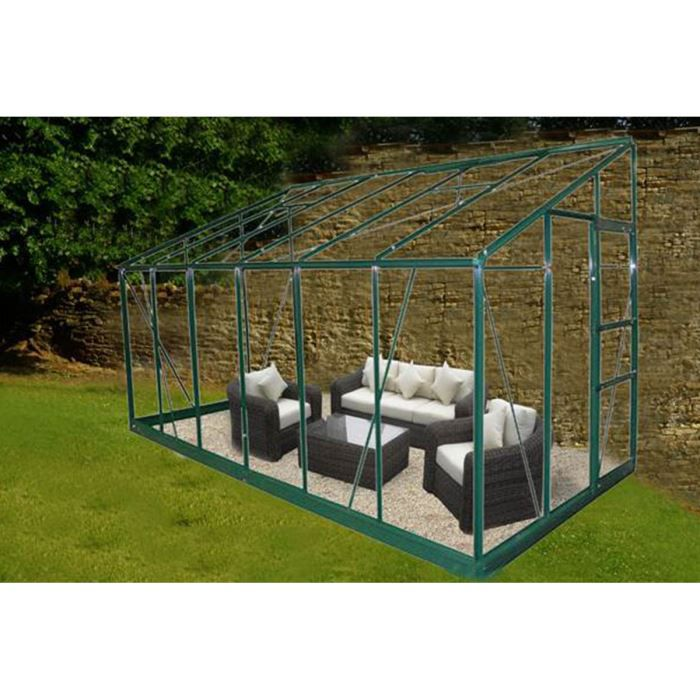 serre de jardin 7 42 m en verre tremp silva achat vente serre de jardinage serre de jardin. Black Bedroom Furniture Sets. Home Design Ideas