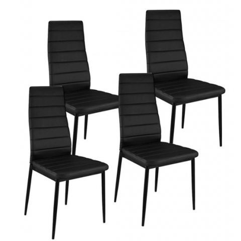 chaise smart noir design lot de 4 achat vente chaise cdiscount. Black Bedroom Furniture Sets. Home Design Ideas