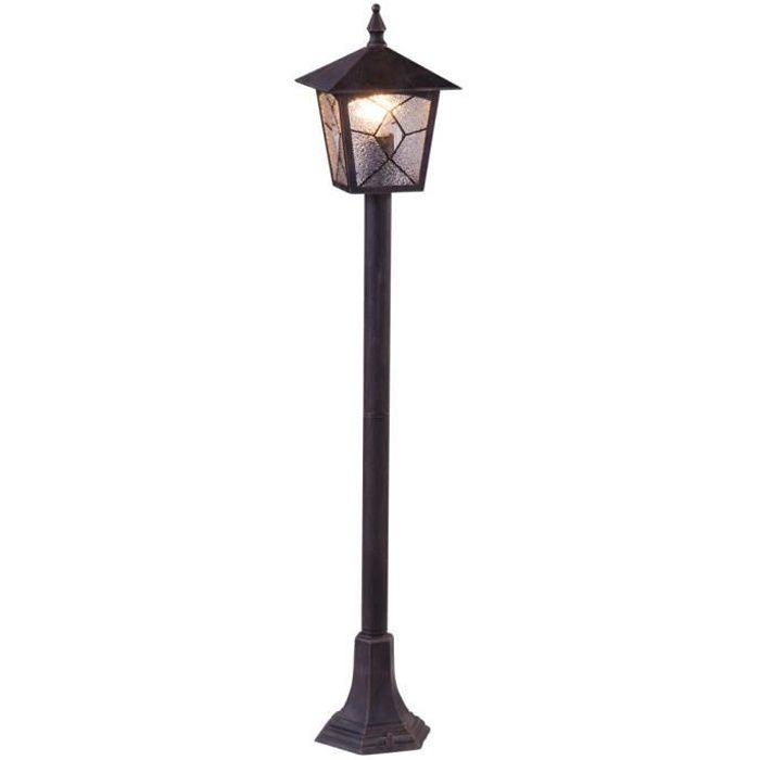 LAMPE DE JARDIN  GLOBO LIGHTING Lampadaire extérieur aluminium noir