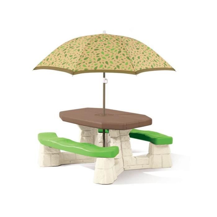 table de jardin picnic avec parasol achat vente table de pique nique soldes d t cdiscount. Black Bedroom Furniture Sets. Home Design Ideas