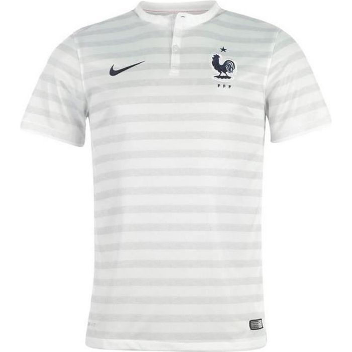 Nike maillot officiel ii equipe de france coupe du blanc for Maillot equipe de france exterieur 2013