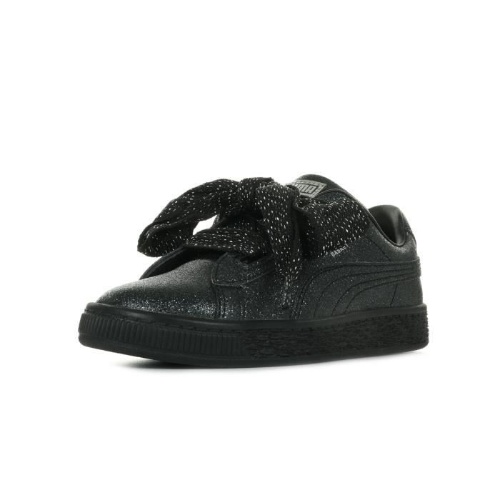 basket puma heart noir