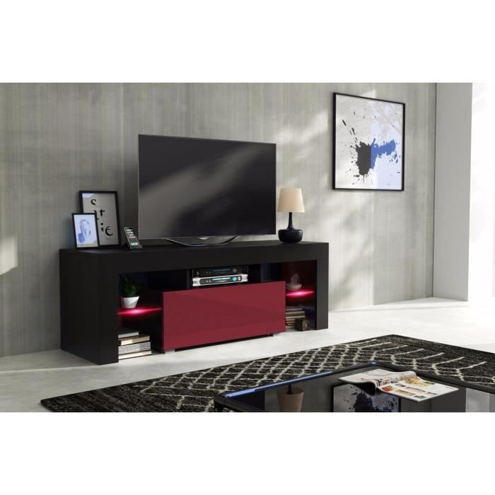 meuble tv 130cm achat vente meuble tv 130cm pas cher cdiscount. Black Bedroom Furniture Sets. Home Design Ideas
