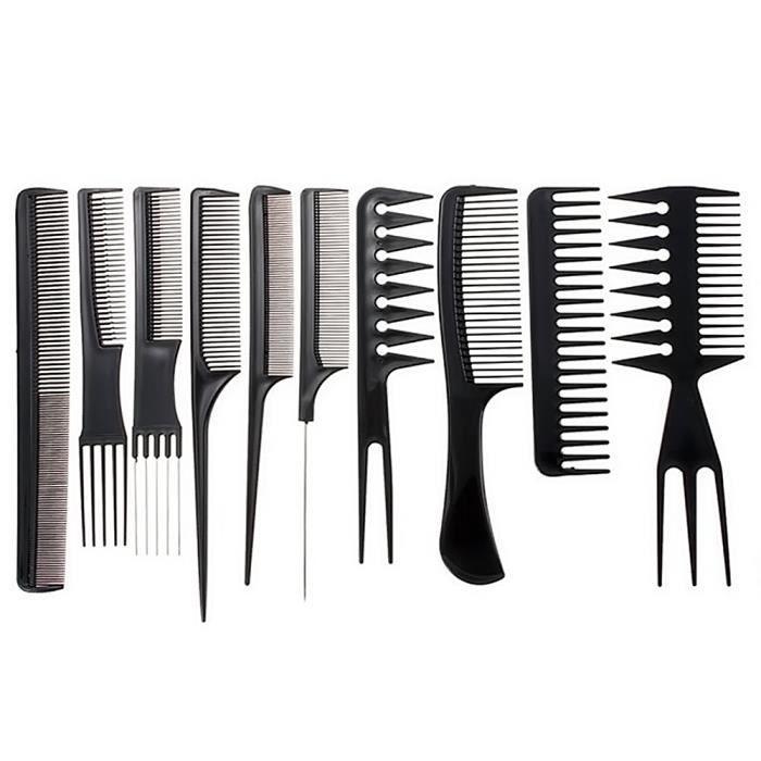 G for U Lot de 10 peignes professionnels pour coiffeur et barbier Qualit/é salon