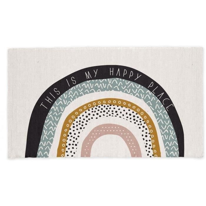 TAPIS TODAY Tapis Coton Happy Place - 60 x 120 cm