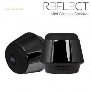 ENCEINTE NOMADE Mini enceinte bluetooth Reflect Chrome Black 5W av